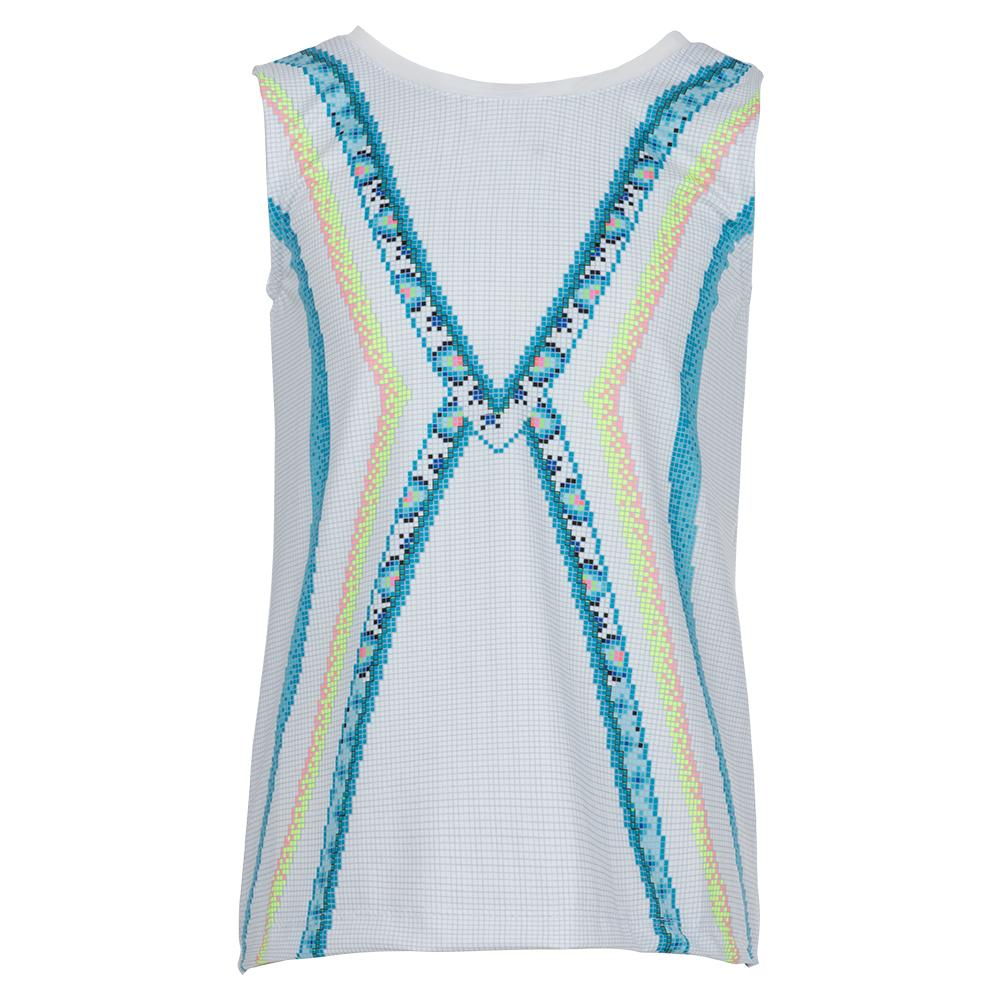 Girls ` Tie Back Tennis Tank Square Are You