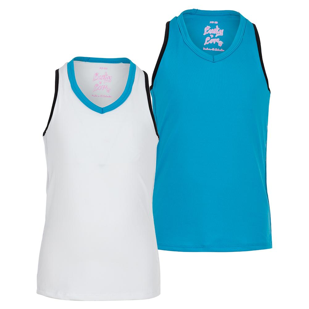 Girls ` V- Neck Cutout Tennis Tank