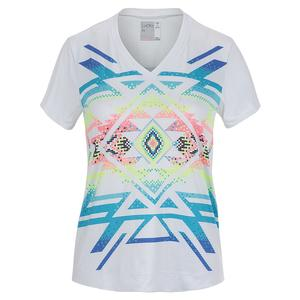 Women`s Short Sleeve Tennis Top Square Are You