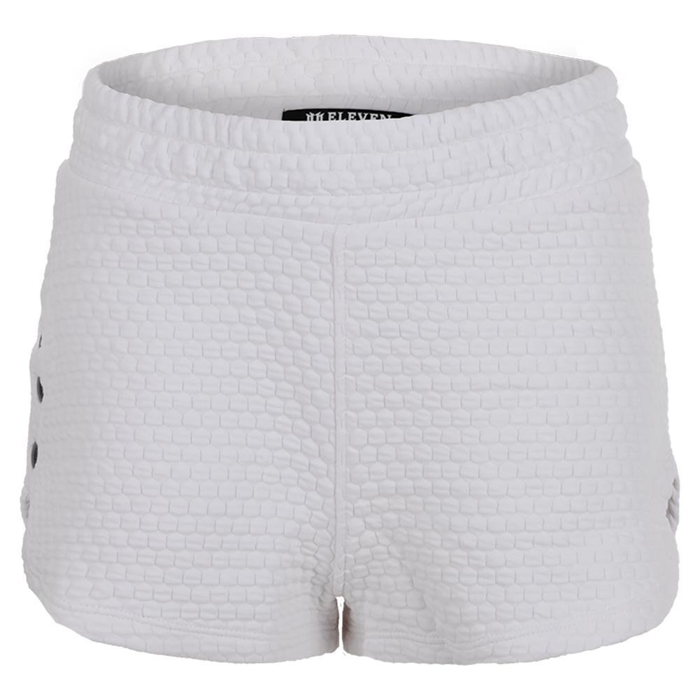 Women's Sideline Snap Tennis Short White