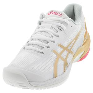 Women`s Court Speed FF LE Tennis Shoes White and Champagne