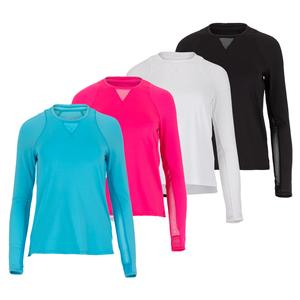 Women`s High-Low Long Sleeve Tennis Top