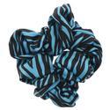 Women`s Gathered Tennis Hair Tie Large Printed 462_CHLORINE_BLUE/WT