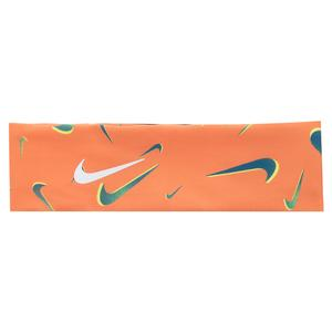 Girls` Fury Printed Tennis Headband 2.0 Bright Mango and Light Zitron