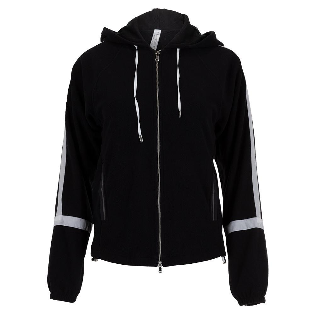 Women's Shrimpton Hooded Tennis Jacket Black And White