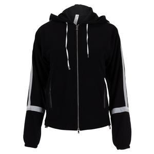 Women`s Shrimpton Hooded Tennis Jacket Black and White