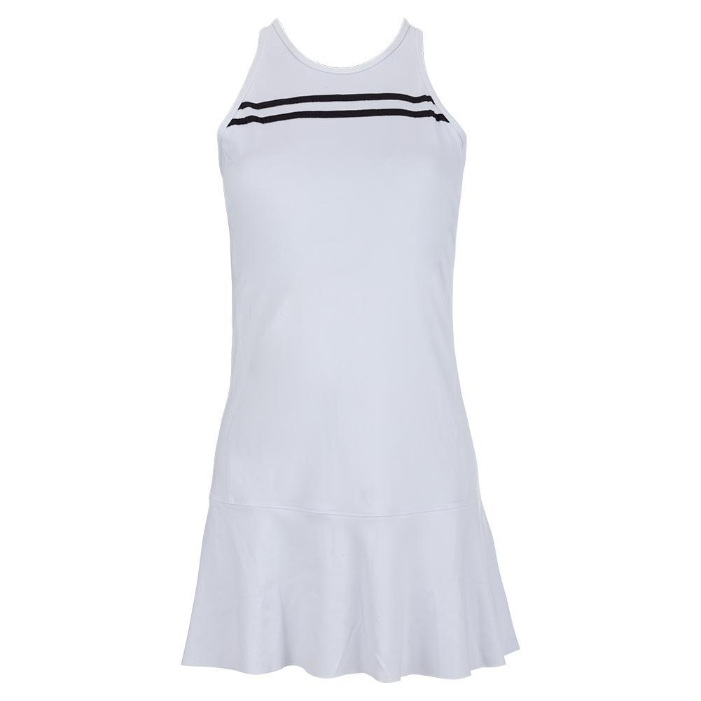 Women's Audrey Tennis Dress White And Black
