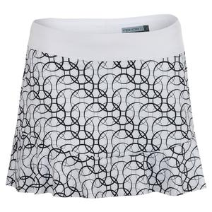 Women`s New Quinn Tennis Skort Black Print and White