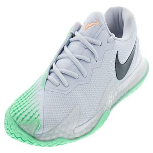 Men`s Rafa Court Zoom Vapor Cage 4 Tennis Shoes Football Grey and Thunder Blue