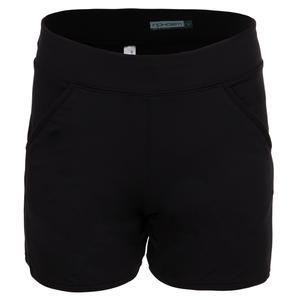 Women`s Zone 5 Inch Tennis Short Black