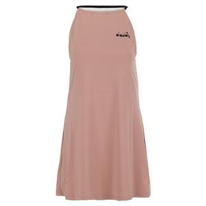 Women`s L Clay Tennis Dress Mahogany Rose and Whisper White