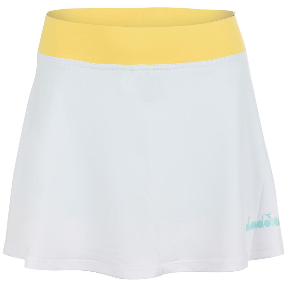 Women's L Easy Tennis Skort Super White And Tint Blue