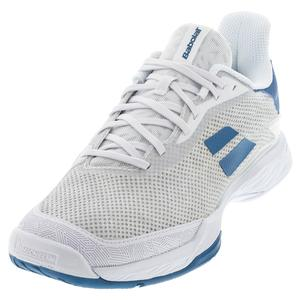 Men`s Jet Tere All Court Tennis Shoes White and Saxony Blue