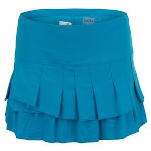 Women`s Stitch Down Tier Tennis Skort Turquoise