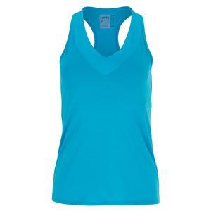 Women`s V-Neck Tennis Tank with Bra Turquoise