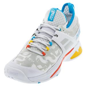 Men`s Propulse Rage All Court Tennis Shoes White and Diva Blue