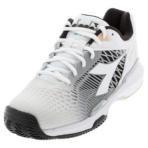 Women`s Speed Competition 6 Plus Clay Tennis Shoes White and Silver