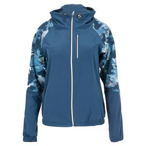Women`s Game Day Tennis Jacket Bluesteel and Watermark