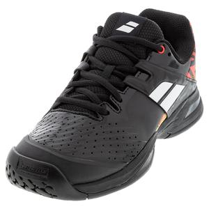 Juniors` Propulse All Court Tennis Shoes Black and White