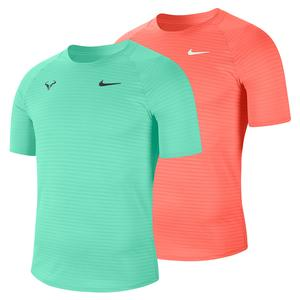 Men`s Rafa Court Slam AeroReact Short-Sleeve Tennis Top