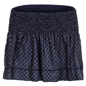 Women`s Print Smocked Tennis Skort Full of Love