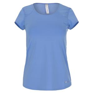 Women`s Serenity Cap Sleeve Tennis Top Periwinkle