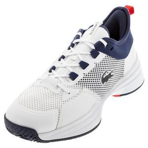 Men`s AG-LT 21 Vitesse Tennis Shoes White and Blue