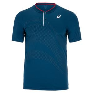 Men`s Court GPX Tennis Polo Mako Blue