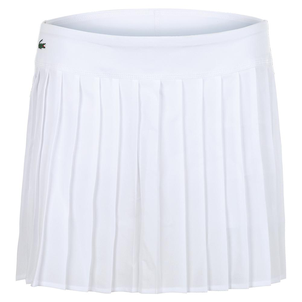 Women's Technical Lightweight Pleated Tennis Skirt Blanc