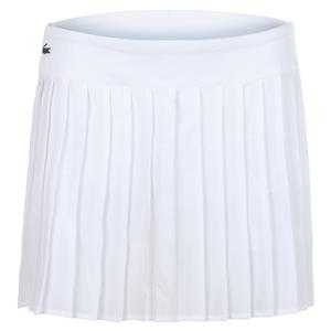 Women`s Technical Lightweight Pleated Tennis Skirt Blanc