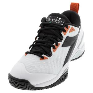 Men`s Speed Blushield 5 AG Tennis Shoes White and Black