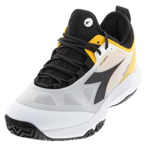 Men`s Speed Blushield Fly 3 Plus AG Tennis Shoes White and Black