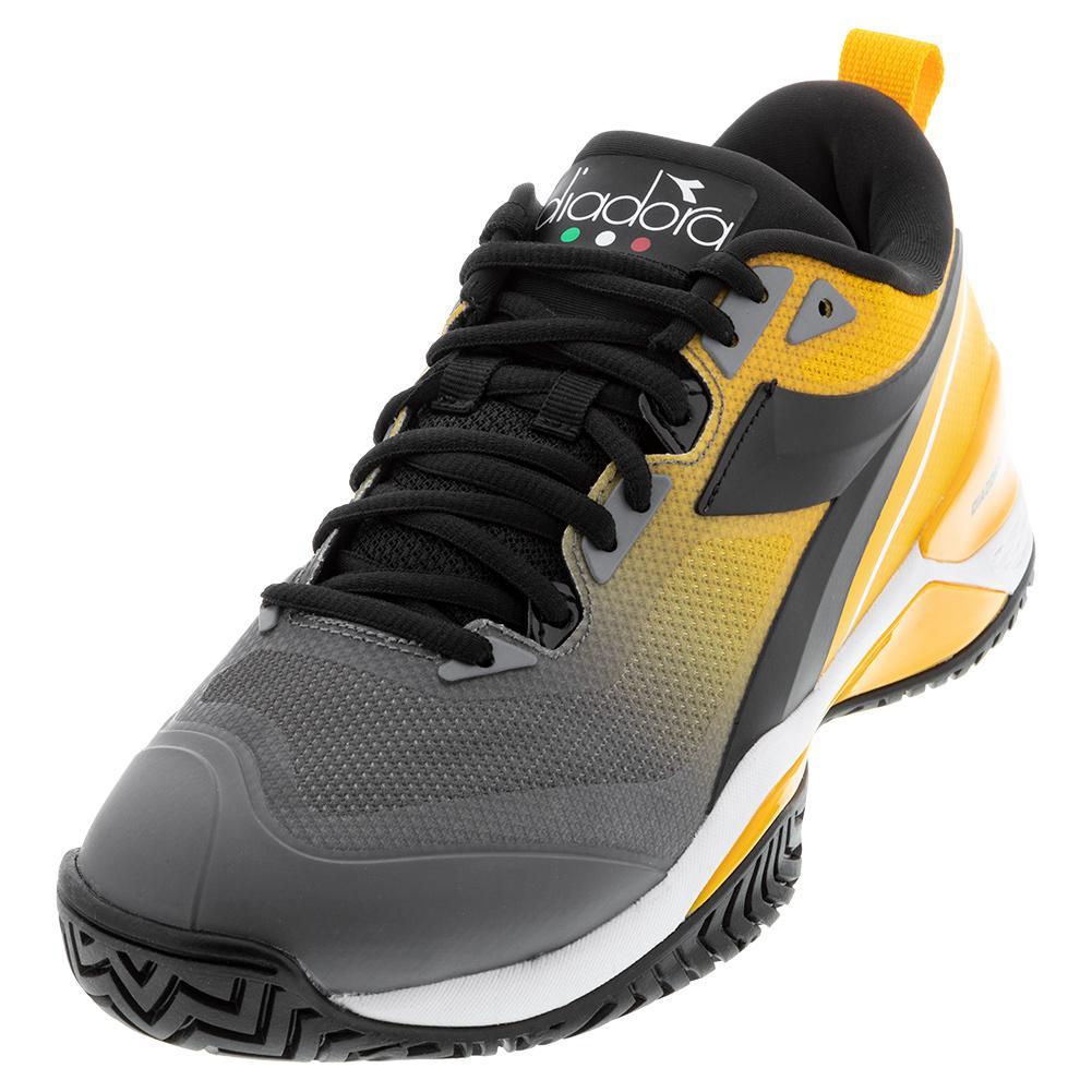 Men's Speed Blushield 5 Ag Tennis Shoes Saffron And Black
