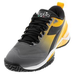 Men`s Speed Blushield 5 AG Tennis Shoes Saffron and Black