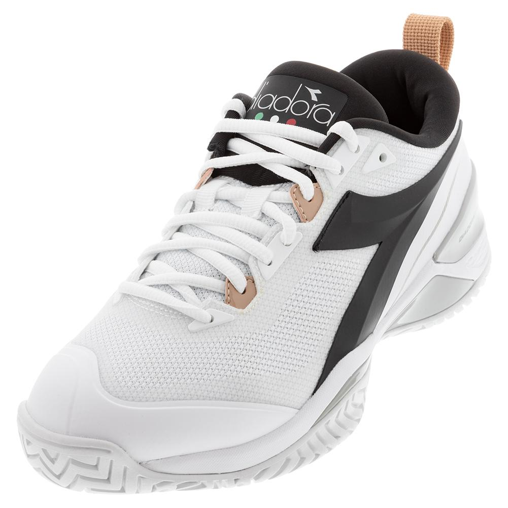 Women's Speed Blushield 5 Ag Tennis Shoes White And Silver