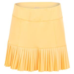Women`s Knife Pleat Tennis Skort Tangerine