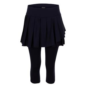 Women`s Skirted Capri Tennis Tights Midnight