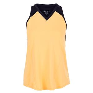 Women`s Break Point Tennis Tank Tangerine