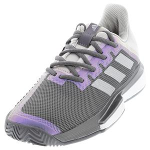 Women`s SoleMatch Bounce Tennis Shoes Grey Four and Silver Metallic