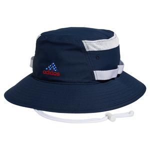 Men`s Americana Victory 3 Tennis Bucket Hat Collegiate Navy and White