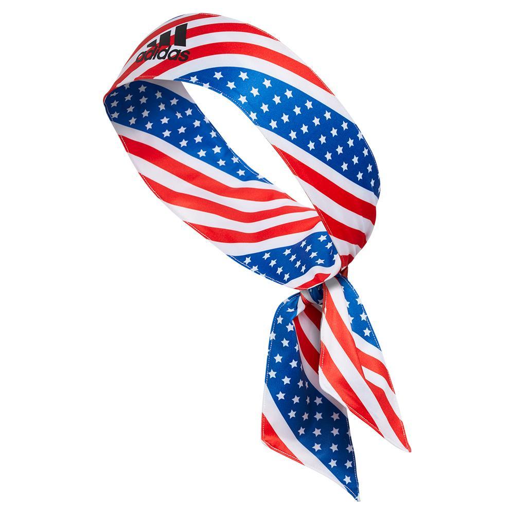 Alphaskin Americana Aop Tennis Headband American Flag