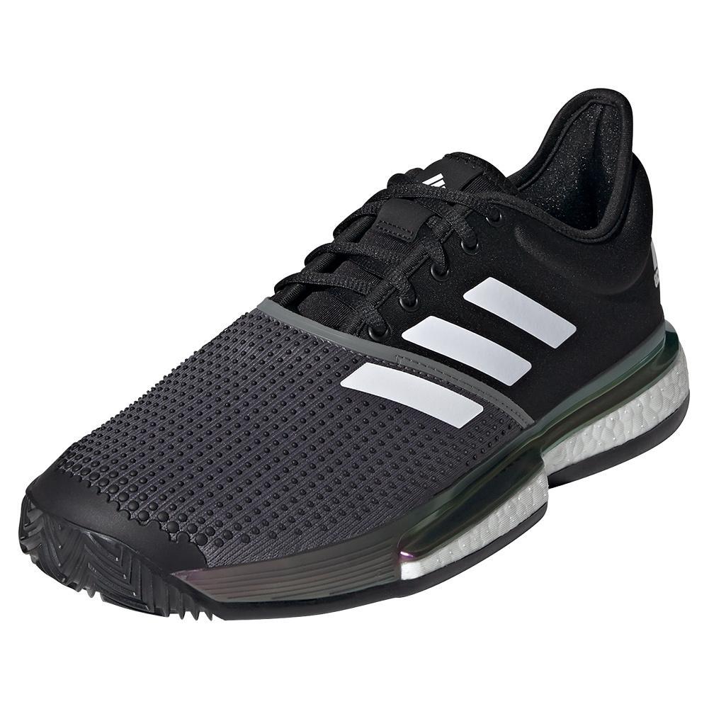 adidas Men`s SoleCourt Primeblue Clay Tennis Shoes Core Black ...
