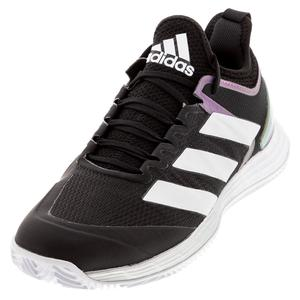 Men`s adizero Ubersonic 4 Clay Tennis Shoes Core Black and Footwear White