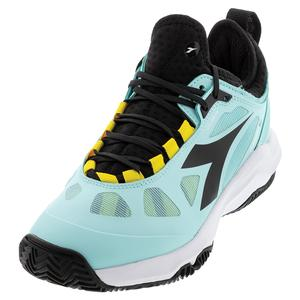 Women`s Speed Blushield Fly 3 Plus Clay Tennis Shoes Blue Tint and Black