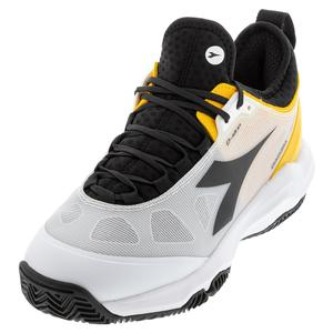 Men`s Speed Blushield Fly 3 Plus Clay Tennis Shoes White and Black