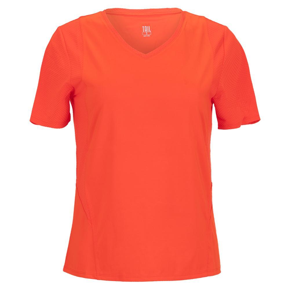 Women's Wesley Short Sleeve Tennis Top Cherry Tomato