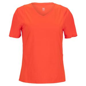 Women`s Wesley Short Sleeve Tennis Top Cherry Tomato