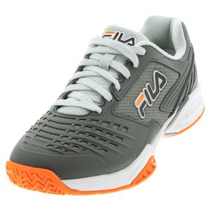 Men`s Axilus 2 Energized Tennis Shoes Agave Green and White