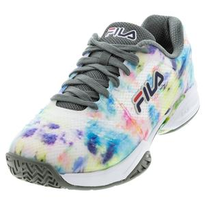 Men`s Axilus 2 Energized Tennis Shoes Multicolor and White