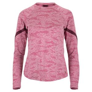 Women`s Terrain Long Sleeve Tennis Top Mulberry and Raisin